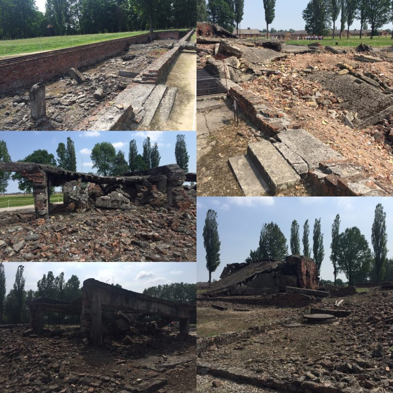 Remains of gas chambers, Birkenau